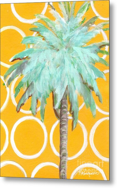 Yellow Delilah Palm Metal Print