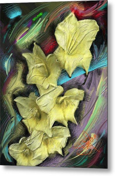 Yellow Metal Print by Donald Pavlica