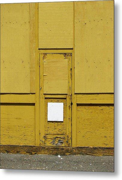 Yellow Door With Accent Metal Print