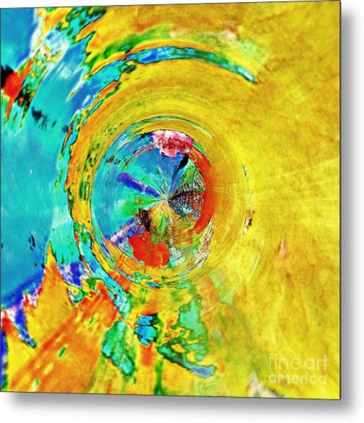 Yellow Eclipse  Metal Print