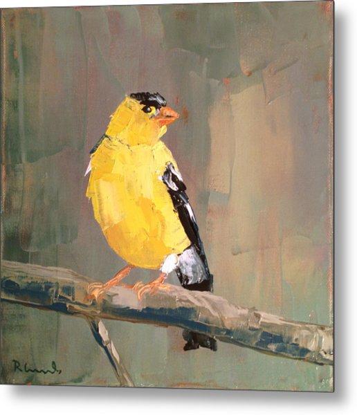 Yellow Finch Metal Print