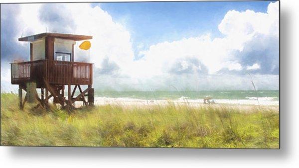 Yellow Flag, Santa Maria Island, Florida Metal Print