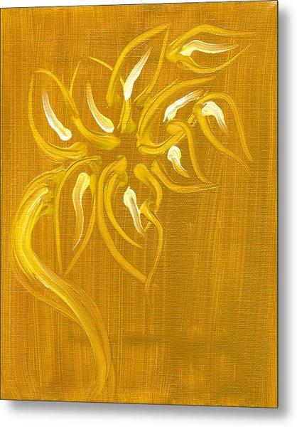 Yellow Flower 1 Metal Print by Melissa Moore