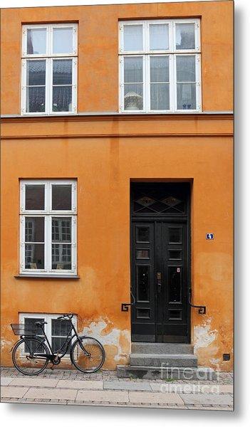 The Orange House Copenhagen Denmark Metal Print