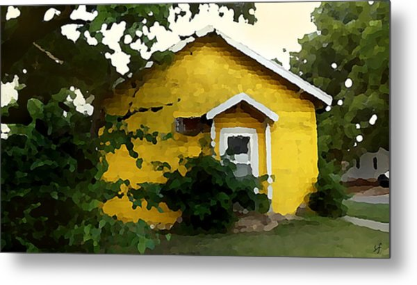 Yellow House In Shantytown  Metal Print