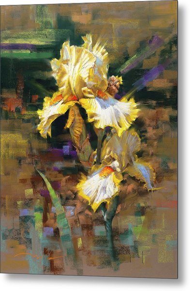 Yellow Iris II Metal Print