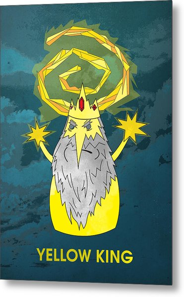 Yellow King True Detective Adventure Time Metal Print