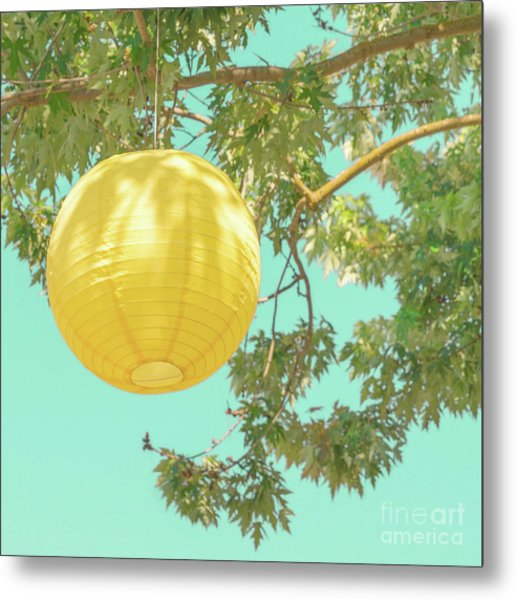 Metal Print featuring the photograph Yellow Lantern by Cindy Garber Iverson