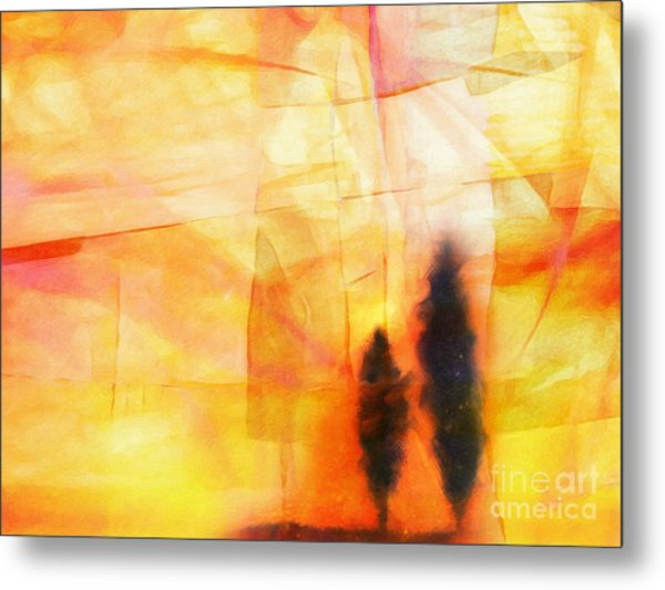 Yellow Lightscape Metal Print