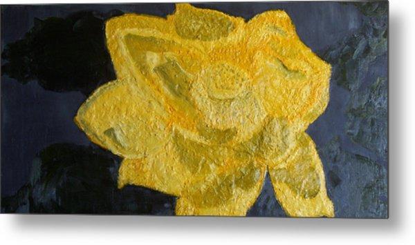 Yellow Lilac On The Pond Metal Print