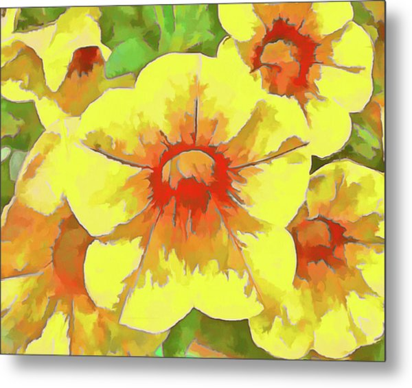 Yellow Million Bells Metal Print