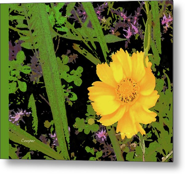 Yellow One Metal Print