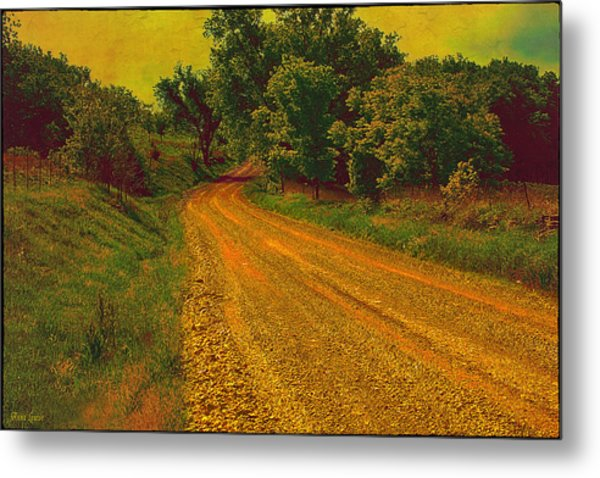 Yellow Oz Road Metal Print