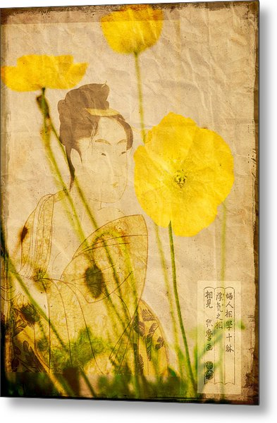 Yellow Poppies Metal Print by Wesley Phillips
