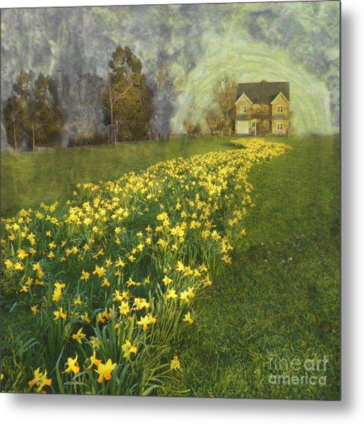 Yellow River To My Door Metal Print