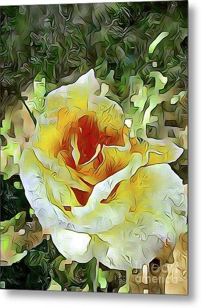 Yellow Rose 04 ...21.39 Rose Rose Image Metal Print