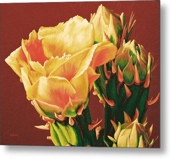 Yellow Rose Of The Desert Metal Print