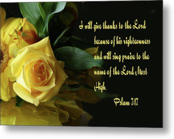 Yellow Rose Ps.7 V 17 Metal Print by Linda Phelps