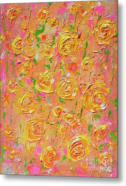 Yellow Roses Of Texas Metal Print