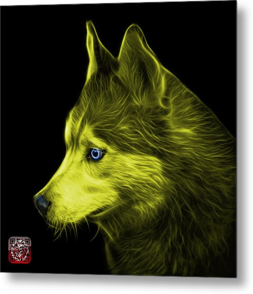 Metal Print featuring the painting Yellow Siberian Husky Art - 6048 - Bb by James Ahn
