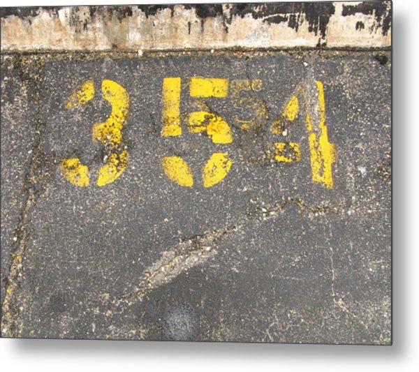 Yellow Three Five Five Four Metal Print
