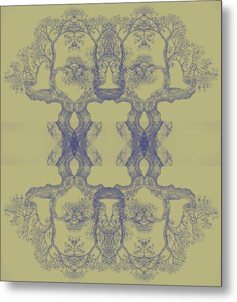 Yellow Tree 14 Hybrid 4 Metal Print