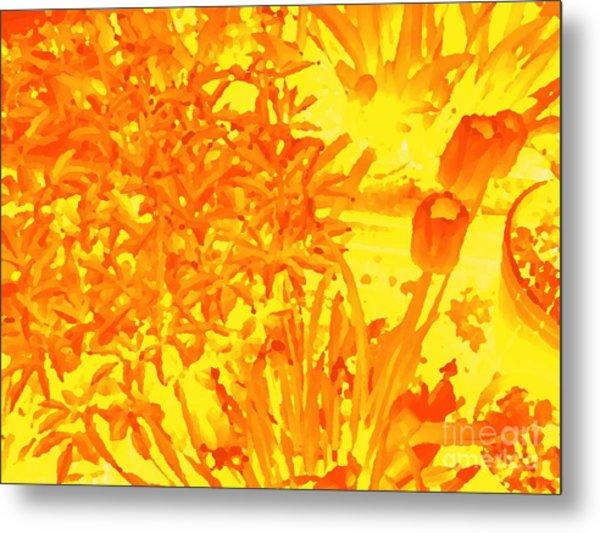 Yellow Tulips  Metal Print by John  Bichler