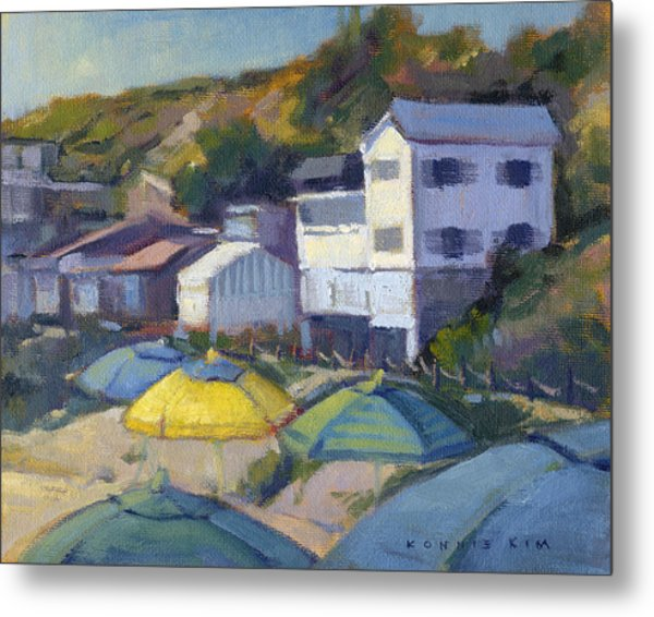 Metal Print featuring the painting Yellow Umbrella  by Konnie Kim