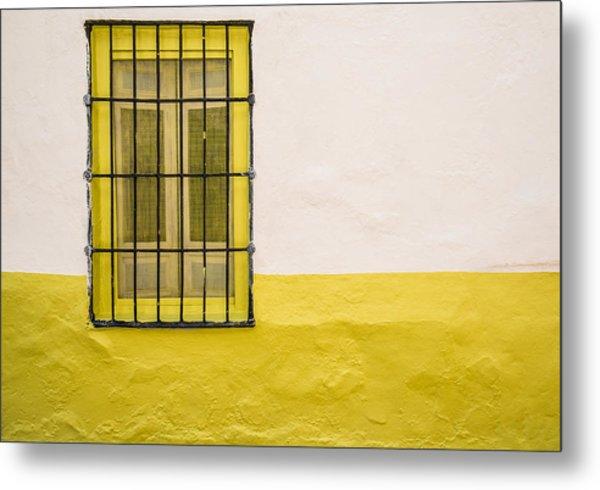 Yellowed Wall Metal Print