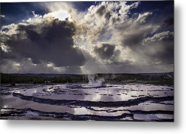 Yellowstone Geysers And Hot Springs Metal Print