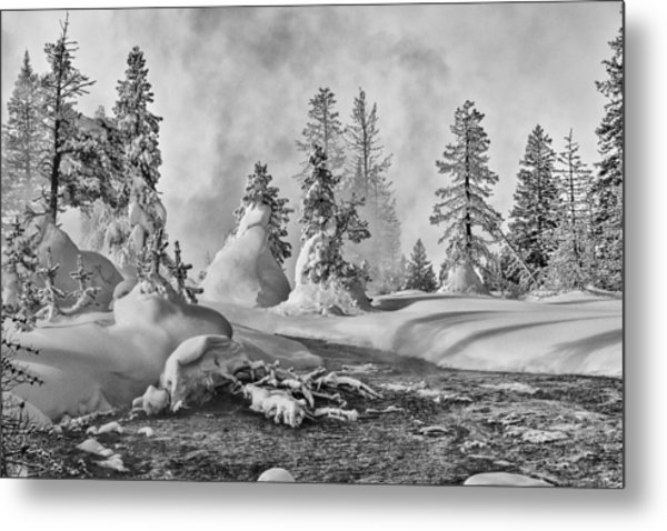 Yellowstone In Winter Metal Print