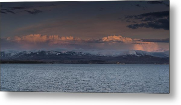 Yellowstone Lake At Sunset Metal Print