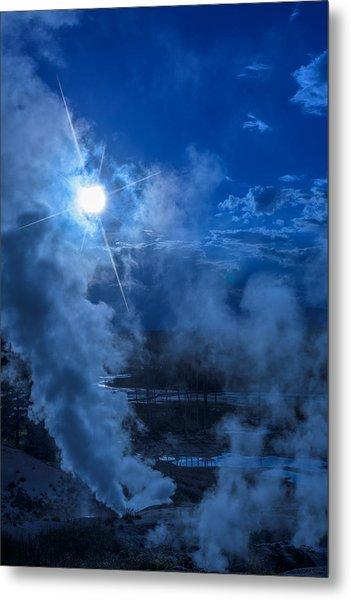 Yellowstone Norris Basin Geyser Metal Print