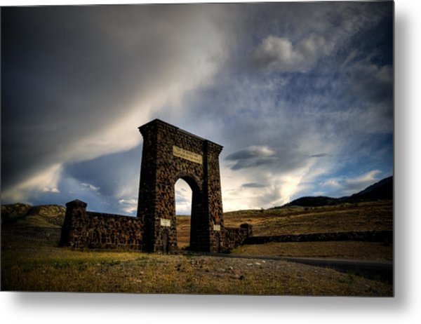 Yellowstone North Gate Metal Print by Patrick  Flynn