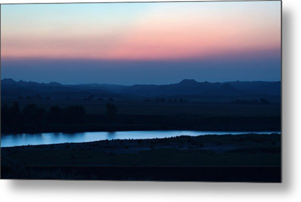 Yellowstone River Evening Metal Print