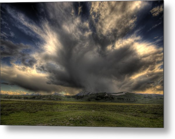 Yellowstone Storm Metal Print