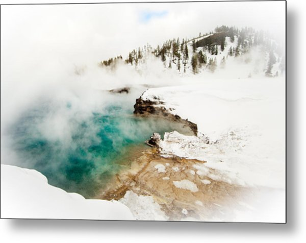 Yellowstone Thermals Metal Print by Melody Watson