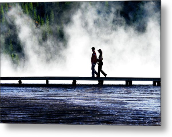 Yellowstone Walkers Metal Print
