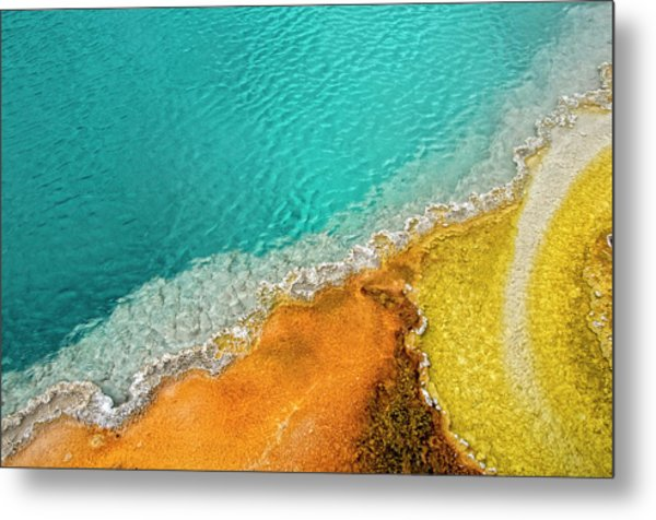 Yellowstone West Thumb Thermal Pool Close-up Metal Print