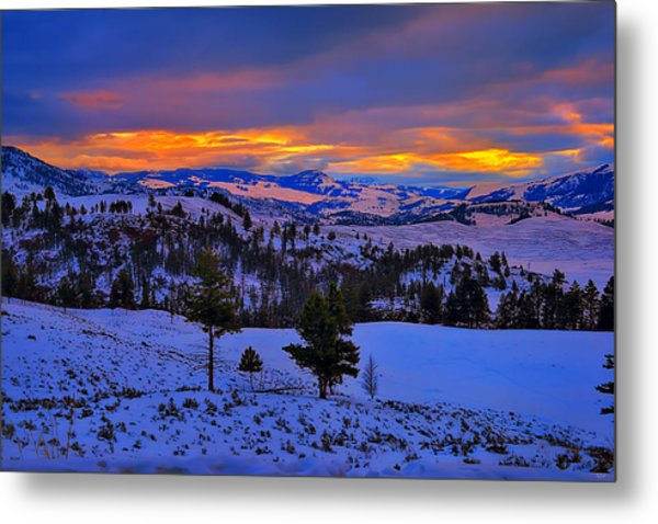 Yellowstone Winter Morning Metal Print