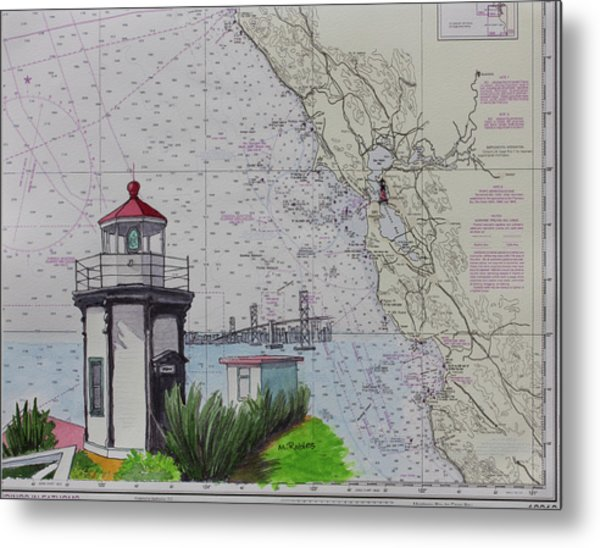 Yerba Buena Island Lighthouse Metal Print