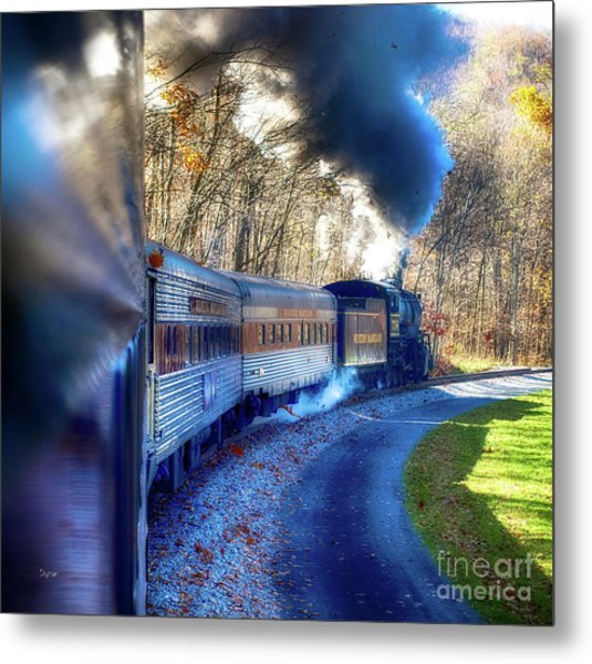 Yesterday By Train  Metal Print by Steven Digman
