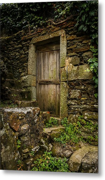 Yesterday's Garden Door Metal Print