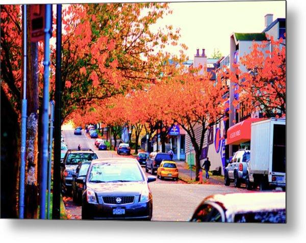 Yew Street Autumn Metal Print by Paul Kloschinsky