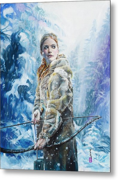 Metal Print featuring the painting Ygritte The Wilding by Baroquen Krafts