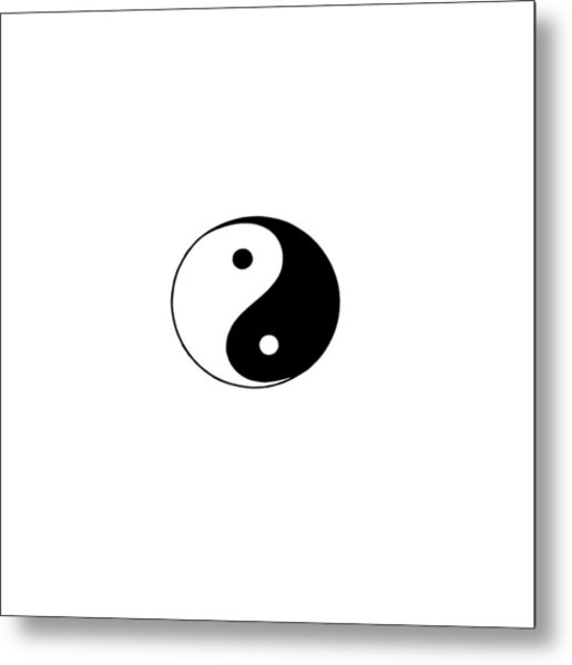 Yin And Yang Metal Print