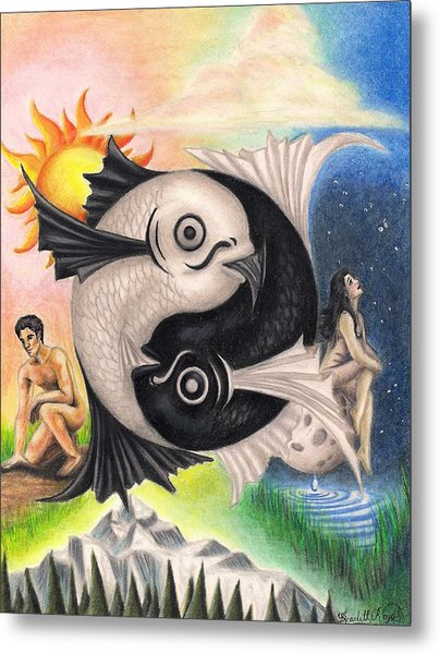Yin-yang Metal Print by Scarlett Royal