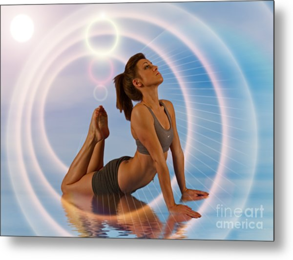 Yoga Girl 1209206 Metal Print