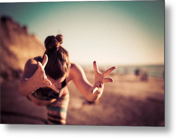 Metal Print featuring the photograph Yogic Gift by T Brian Jones