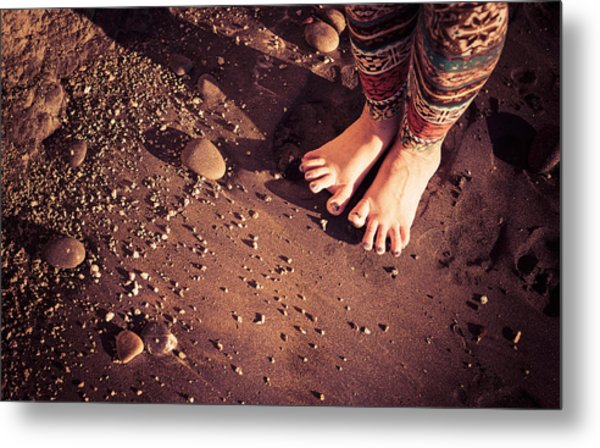 Metal Print featuring the photograph Yogis Toesies by T Brian Jones